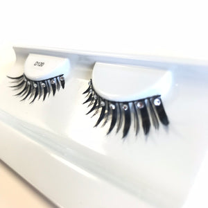 Diamante fake lashes