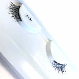 Short silver glitter lashes