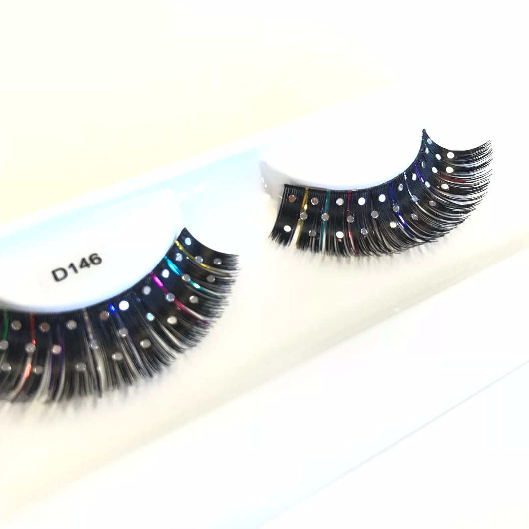 Diamante false lashes