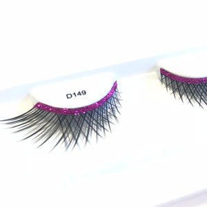 Pink Glitter Fake Lashes
