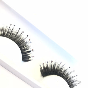 Diamante fake eyelashes from Eldora