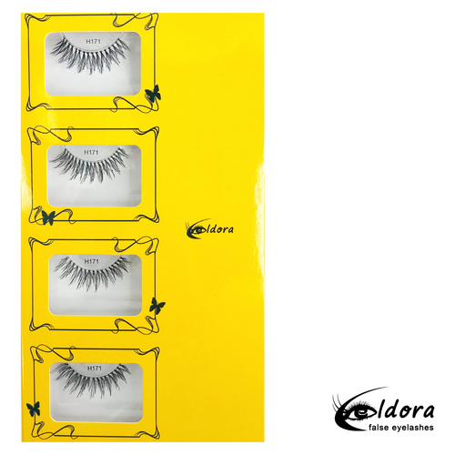 H171  Human Hair False Lashes Multipack
