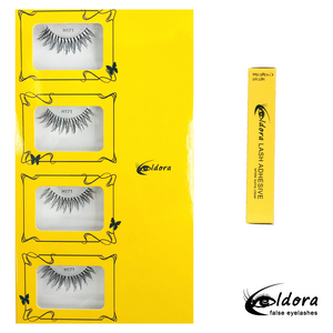 H171 Human Hair False Lashes Multipack with Brush on Adhesive