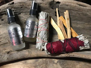 Sage Spray Palo Santo Sage Sticks available at Wyld Ravin