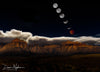 Lunar Eclipse Composite over Red Rock Mountains