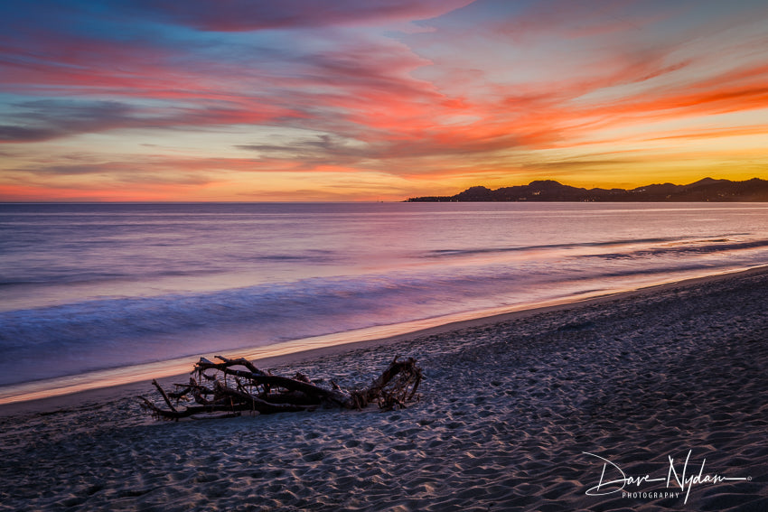Sunset in Mexico with Drift Wood