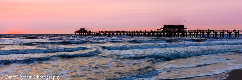 Pink Sunset on Naples Pier