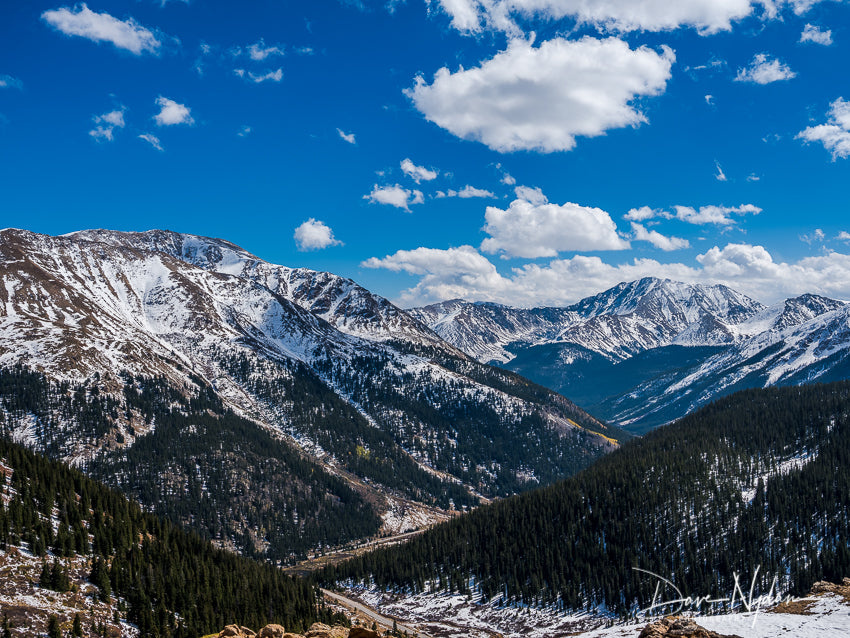 Independence Pass Overlook with Snow and Blue Sky