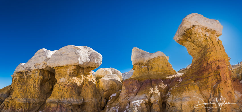 Paint Mines Interpretive White and Gold Hoodoos