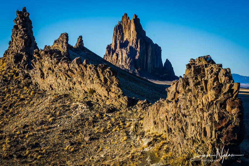 Image of Shiprock through its Spine