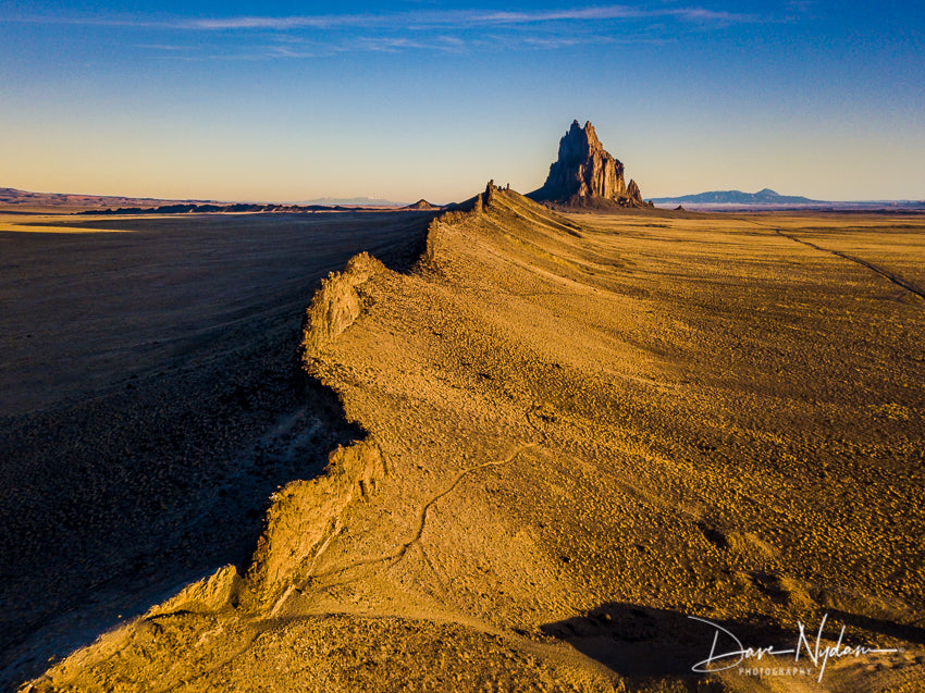 Aerial Image of Shiprock prior to Sunset