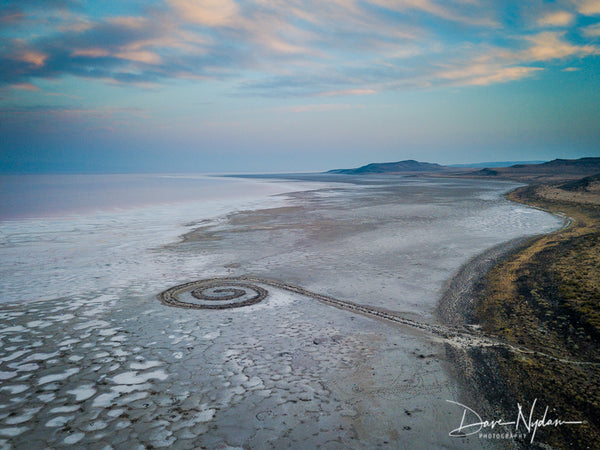 Aerial View of the Spiral Jetty