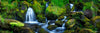 Waterfall Panorama with Creek Photograph as Fine Art Print