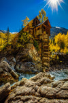 Crystal Mill under a Starred Sun as Fine Art Print