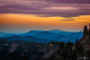 Blue Mountains Layered at Sunset Photograph as Fine Art Print
