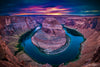 Horseshoe Bend Sunset Photograph as Limited Edition Fine Art Print
