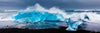 Blue Iceberg on Black Beach Photograph as Limited Edition Fine Art Print