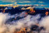 Grand Canyon with Clouds Sunset Photograph as Limited Edition Fine Art Print