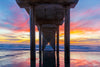 Colorful Sunset Under the Pier Photograph as Limited Edition Fine Art Print