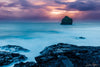 Icelandic Coast Long Exposure Sunset Photograph as Fine Art Print