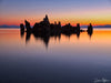 Tufa Silhouette on Calm Waters at Sunset Limited Edition Photograph as Fine Art Print