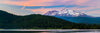 Mt Shasta Sunset Panorama Photograph as Fine Art Print