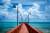 Pier with Clear Water Blue Sky Limited Edition Photograph as Fine Art Print