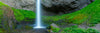 Waterfall with Lush Greens Panoramic Photograph as Limited Edition Fine Art Print