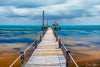Pier Long Exposure Storm Building Limited Edition Photograph as Fine Art Print