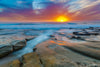 Rocky Shore Ocean Sunset Photograph as Limited Edition Fine Art Print