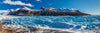 Blue Glacier with Mountains Panorama Photograph as Fine Art Print