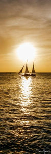 Ship on Water in Golden Sunset Photograph as Fine Art Print