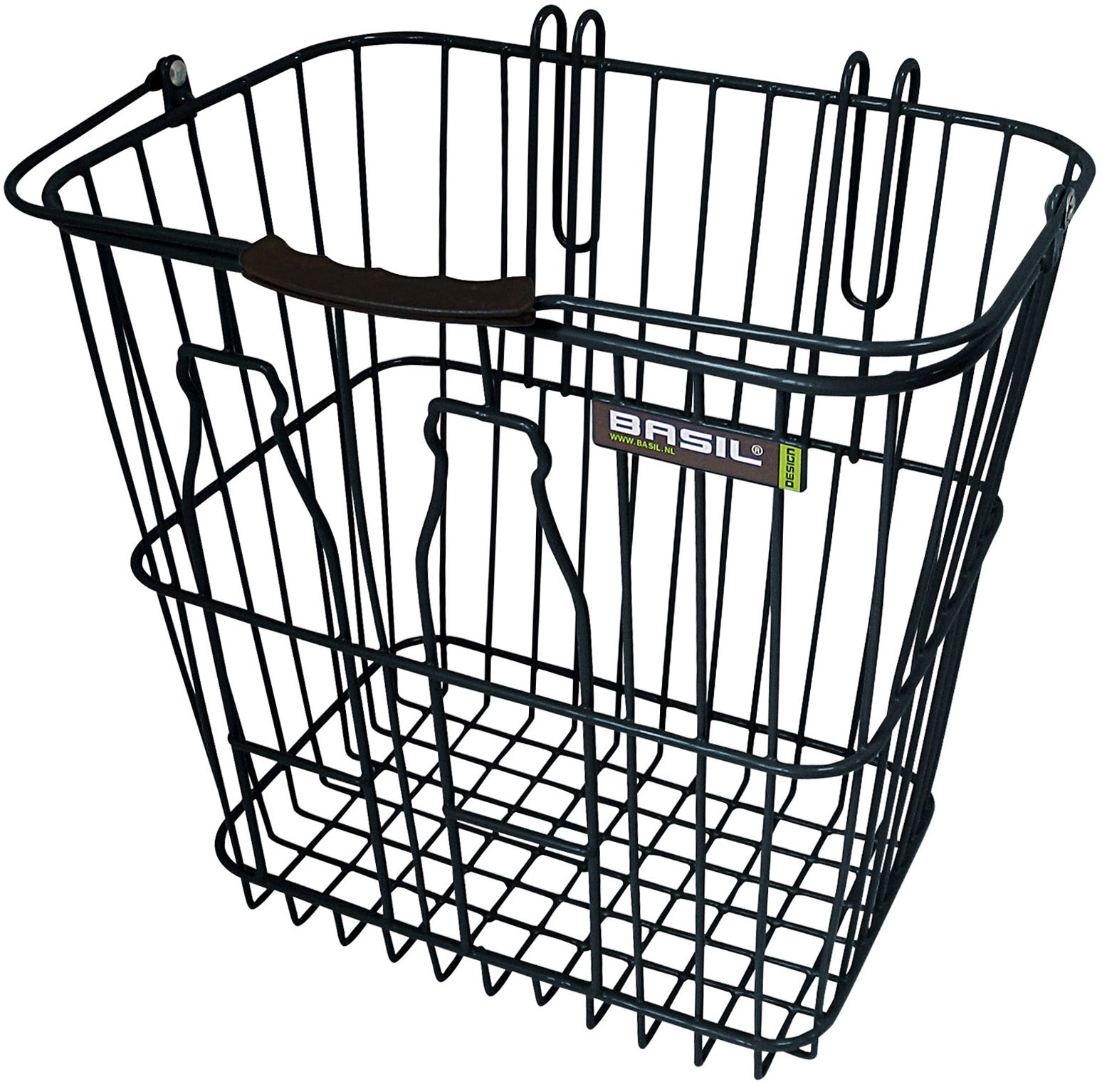 Basil Bottle Rear basket - Black