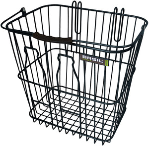 Basil Memories Bottle Basket Rear - Black