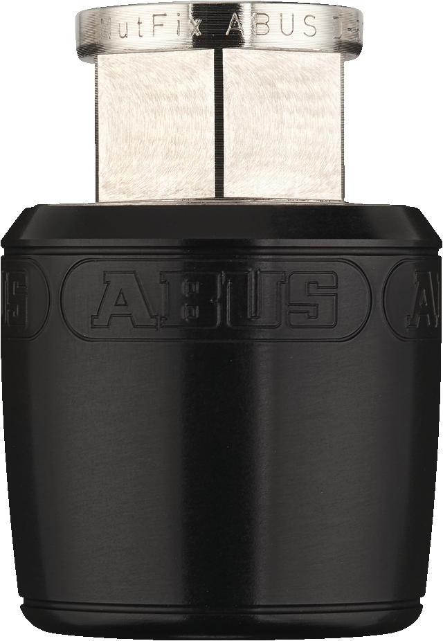 "Abus Nutfix Locking Axle Nuts Pair M3/8"" Black"