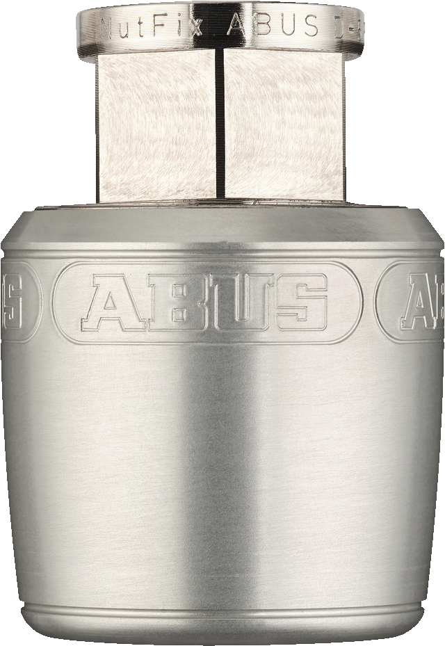 Abus Nutfix Locking Axle Nuts Pair - M10 Silver