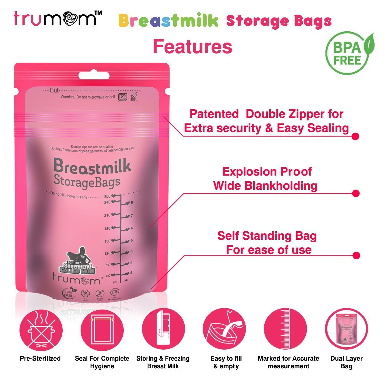 Trumom Breast Milk storage bags - trumom