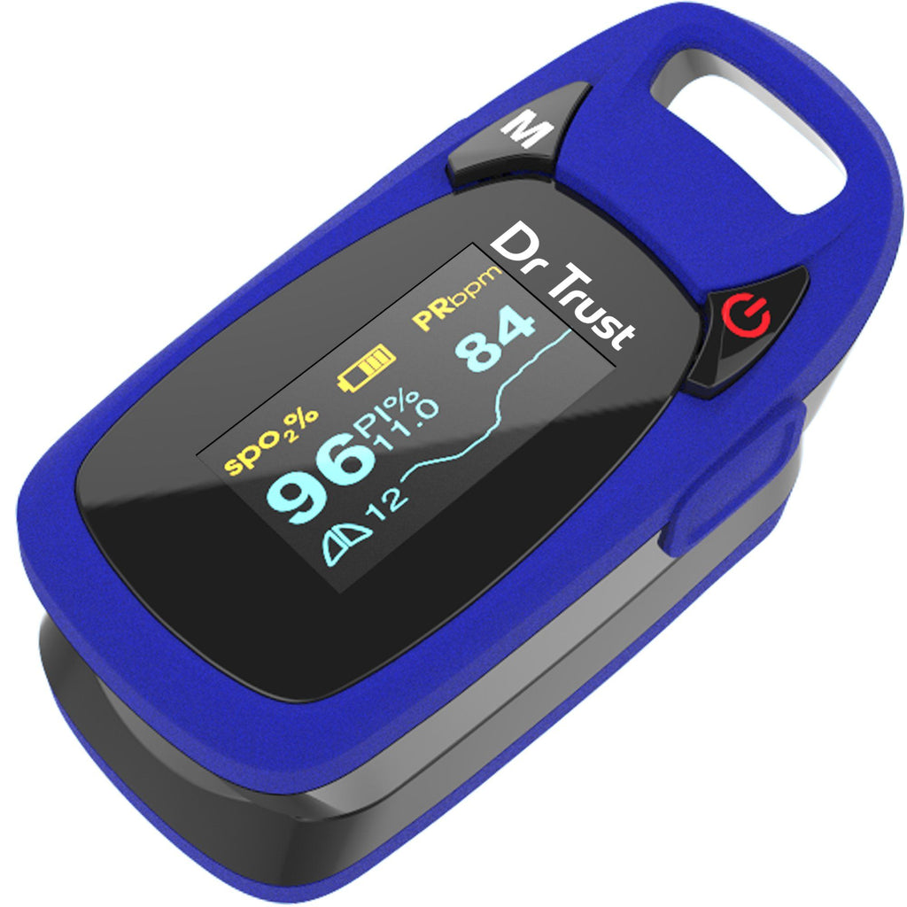 Dr Trust USA Professional Series Finger Tip Pulse Oximeter Sp02 check (Blue) 202