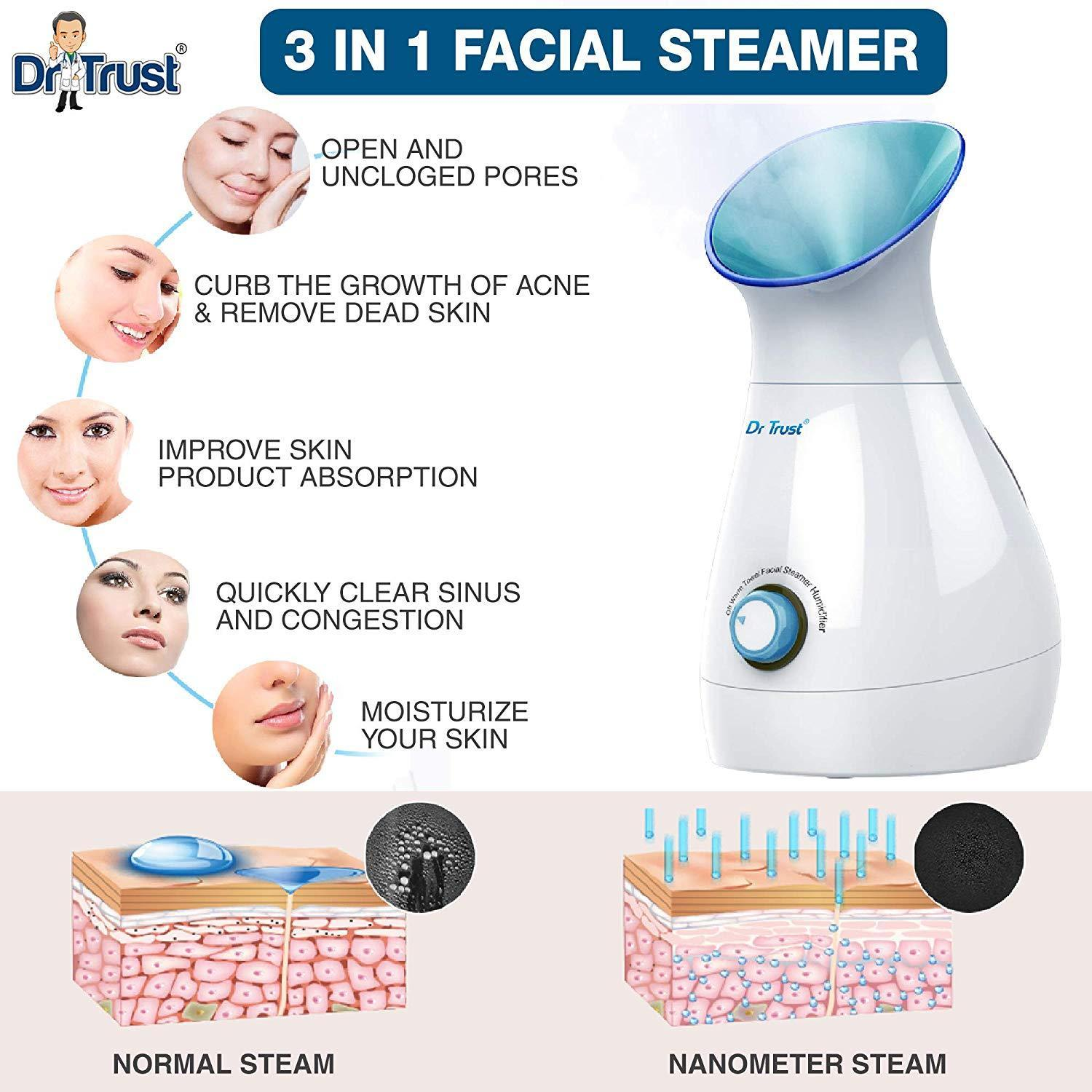 Dr Trust USA 3-in-1 Nano Ionic Facial Steamer 902
