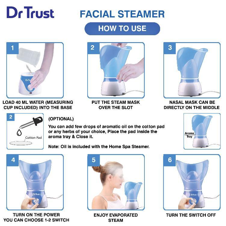 Dr Trust USA Home Spa Face Steam Vaporizer 901