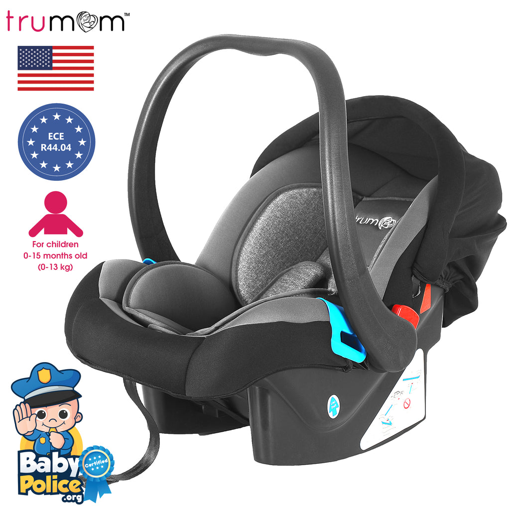 Trumom Infant Baby Car Seat, Carry Cot and Rocker with Canopy (0-13 kgs) - trumom
