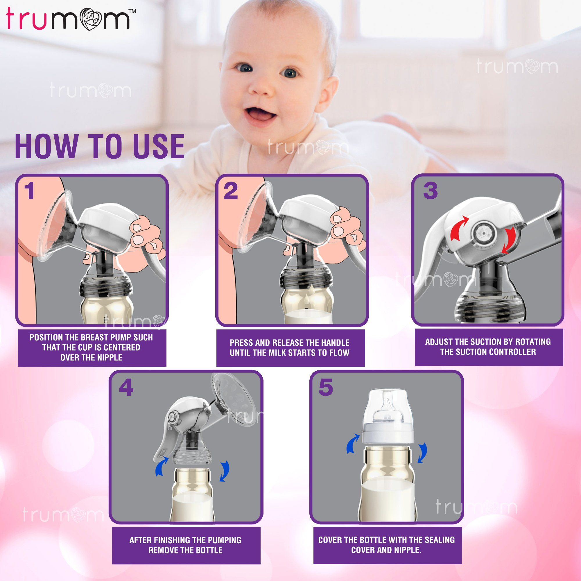 TRUMOM (USA) Manual PPSU Gold Advance Breast Pump - trumom