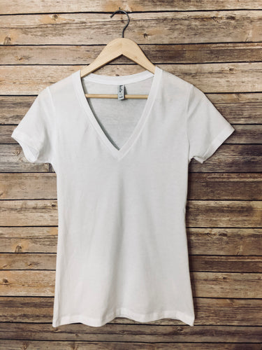 100% Cotton Deep V-Neck Tshirt