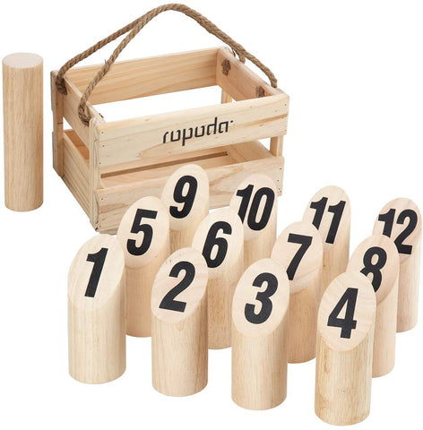 Wooden Throwing Molkky Game Set