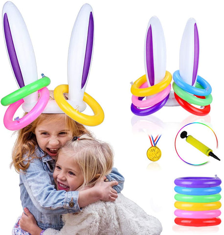 Inflatable Bunny Ears Ring Toss Game