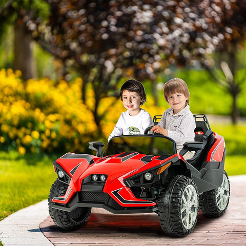 Uenjoy 2 Seats Kids Car 12V Ride On Racer Cars