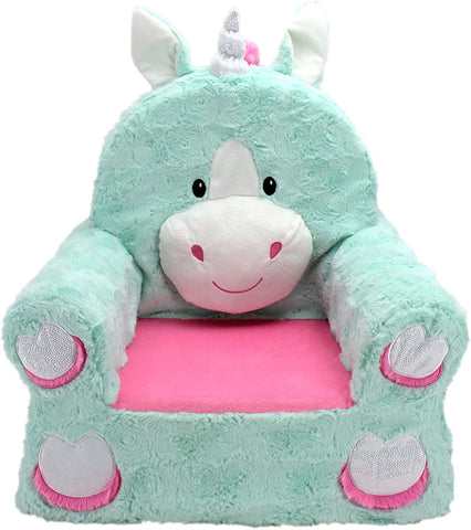 Animal Adventure | Sweet Seats | Teal Unicorn Children's Plush Chair