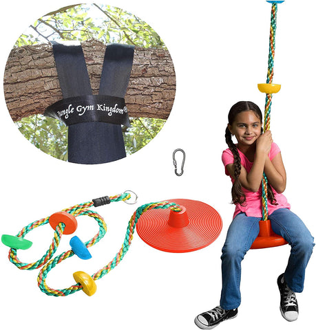 Swing Multicolor Climbing Rope with Platforms