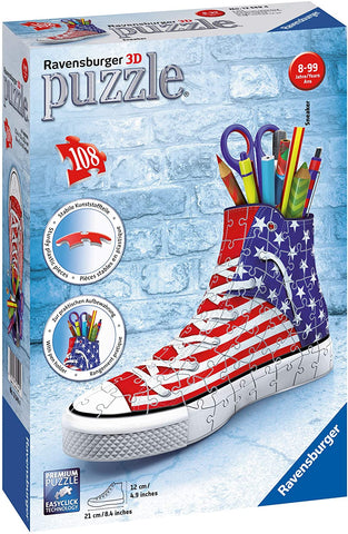 Ravensburger Sneaker American Style 108 Piece 3D Jigsaw Puzzle for Kids and Adults - Easy Click Technology Means Pieces Fit Together Perfectly