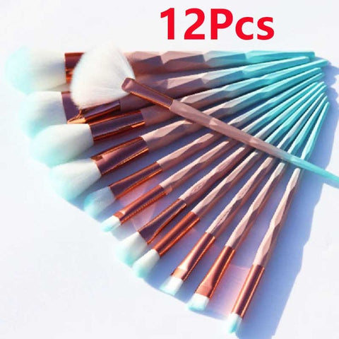 12pcs Unicorn diamond Makeup Brushes